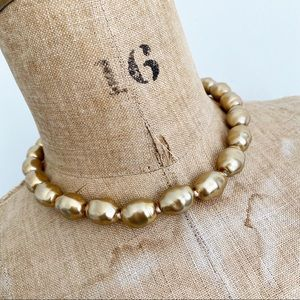 LENI PEREZ warm gold bauble pearl necklace.
